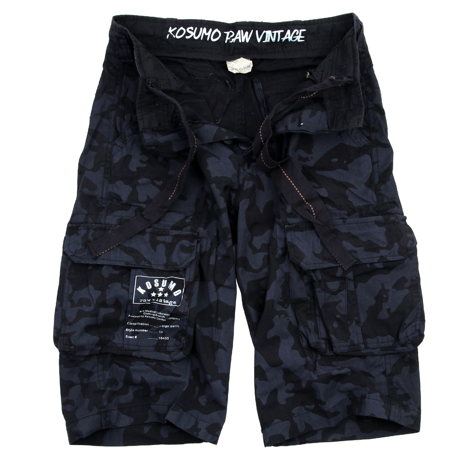 KORTE BROEK STONE WASHED KOSUMO NIGHT CAMO