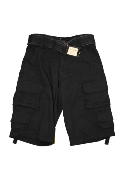 SHORT TROUSERS STONE WASHED BLACK