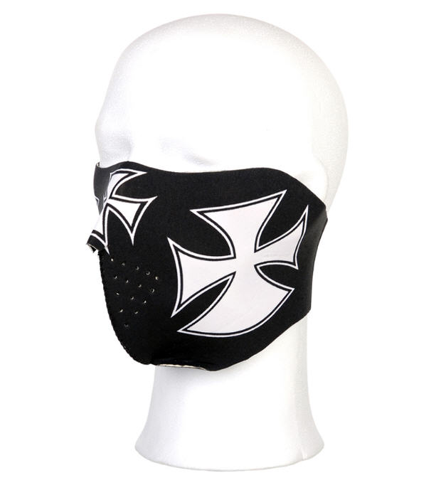 BIKER MASK HALF FACE MALTEZER CROSS