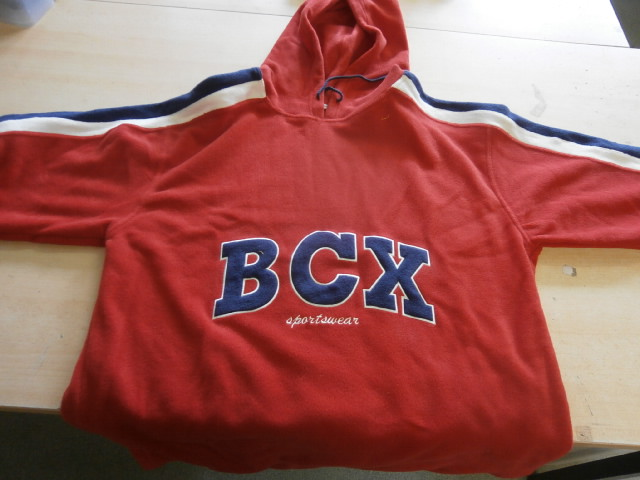 Hooded Sport Sweater BCX Rood maat XXL