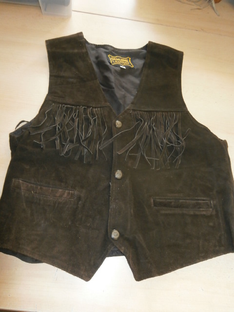 Western Brown Concho size M