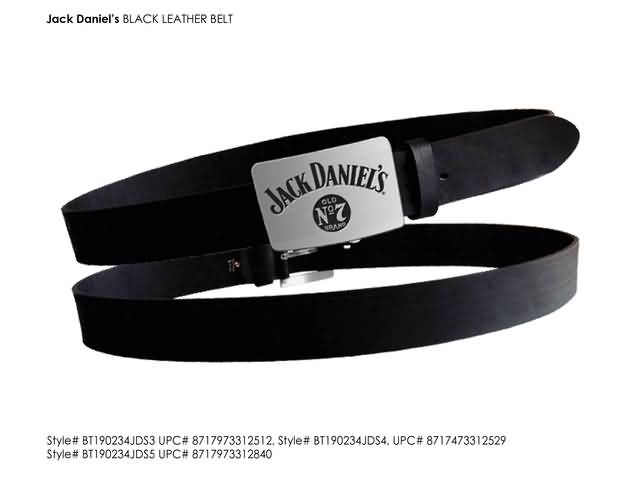 JACK DANIELS -M- BLACK BELT METAL BUCKLE