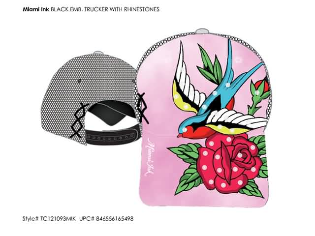 Miami Ink - Pink Trucker with bird