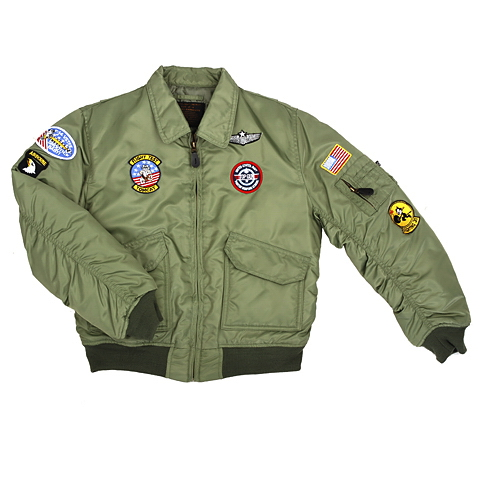KINDER CWU FLIGHT JACKET GROEN XXL/14