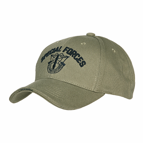 BASEBALL CAP SPECIAL FORCES ZWART