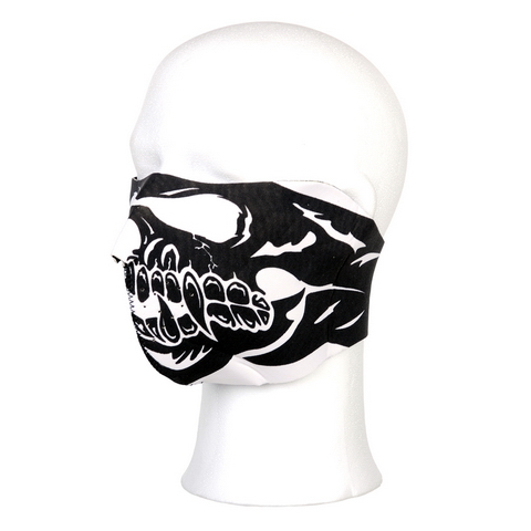 Biker mask half face skull big mouth #110