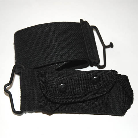 CHILD ARMY BELT WITH BAGJES BLACK