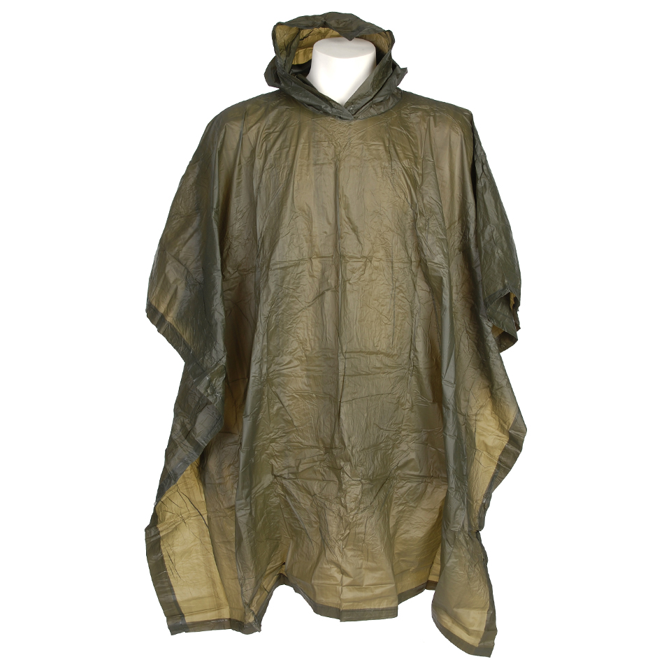 PONCHO LIGHT WEIGHT GROEN