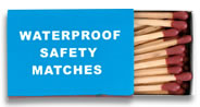 WATERPROOF SAFETY MATCHES(20)