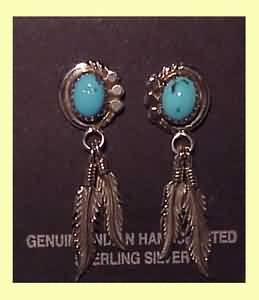 EARRING SET WITH TURQUASE STEEN