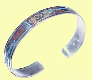 BRACELET LADIES THICK WITH TURQUASE FIGUUREN EROP