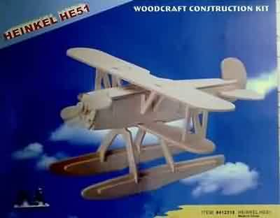 WOODEN DO IT YOURSELF KIT HEINKEL HE51