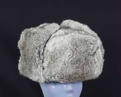 RUSSIAN FUR HAT GRAY