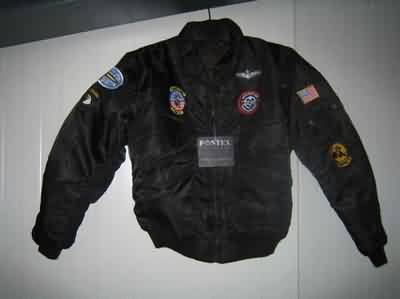 KINDER CWU FLIGHT JACKET ZWART L/10