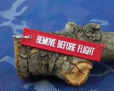 KEY RING REMOVE BEFORE FLIGHT