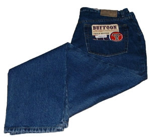 BUFFOON OREGON ZIPPER FLY JEANS BLACK WAIST: W 30 L 36