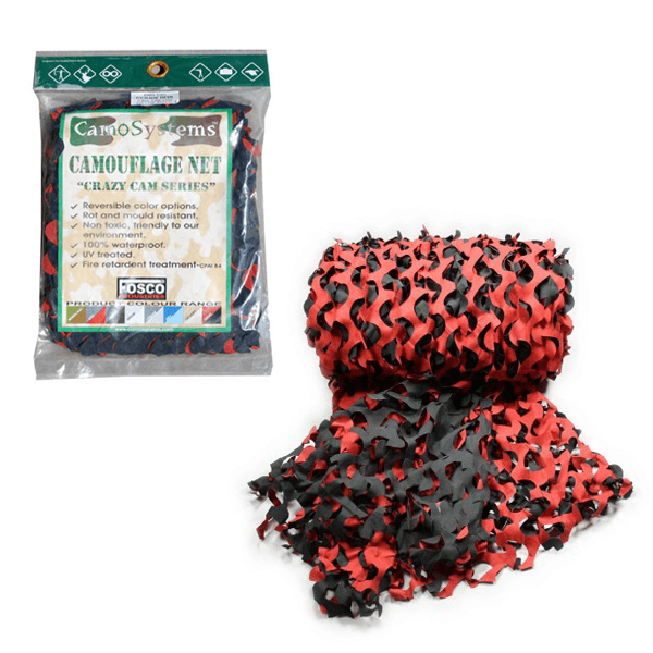 CAMOUFLAGE NET RED HOT 3 x 2,4m