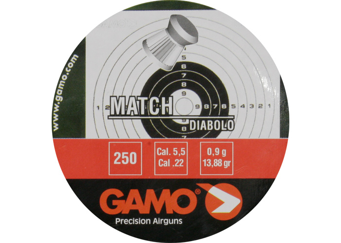 KOGELS MATCH PLATKOP 5,5MM(250)