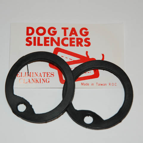 Dog Tag met rubber